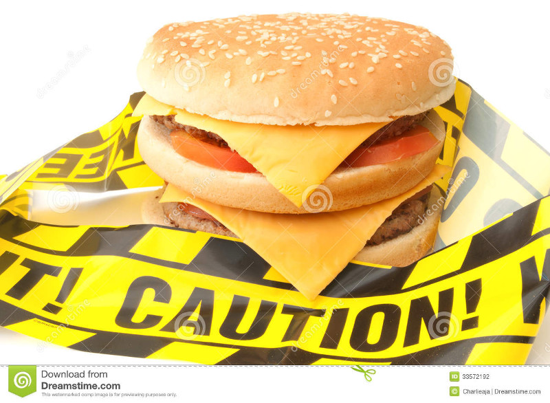 fast-food-caution-tape-wrapped-around-double-cheeseburger-33572192